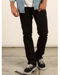 Volcom - Vorta Slim Fit Jeans - Blackout - 28 - Lyst