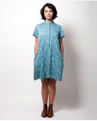 Dusen Dusen - Oversize Tee Dress - Blue Squggle - Lyst