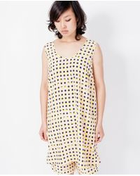 Dusen Dusen - Tank Dress / Peach Double Dot - Lyst