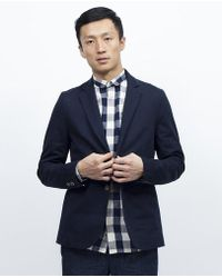 General Assembly - Sun Washed Chino Blazer Navy - Lyst
