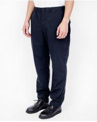 Still By Hand - Inner Coating Pants / Navy - Lyst