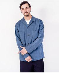 Still By Hand - Melange Shirt Jacket / Blue - Lyst
