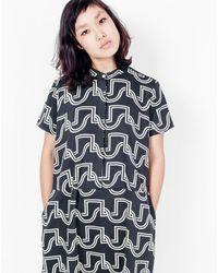 Dusen Dusen - Oversized Dress / Black Wave - Lyst