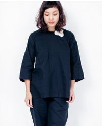 wrk-shp - Wrkshp Alto Box Top / Navy - Lyst