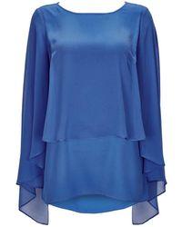 Wallis | Blue Layered Sleeve Top | Lyst