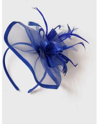 Wallis - Blue Satin Loop Fascinator - Lyst