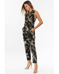 591bde3aa8b Cupcakes And Cashmere Gale Floral Paisley Crop Jumpsuit - Lyst