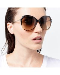 Warehouse - Rounded Glam Tort Sunglasses - Lyst