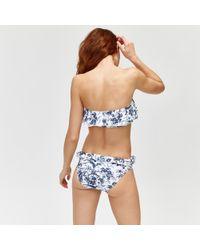 Warehouse - Mono Fern Print Bikini Bottoms - Lyst