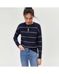 Warehouse - Fine Stripe Cosy Jumper - Lyst