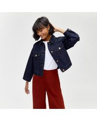 Warehouse - Cropped Denim Jacket - Lyst