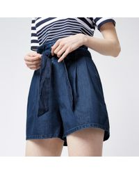 Warehouse - Tie Front Short - Lyst