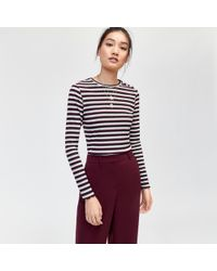 Warehouse - Metallic Rib Top - Lyst