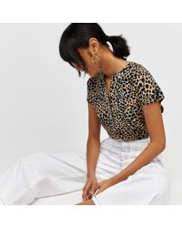 Warehouse - Cheetah Print Halter Dress - Lyst