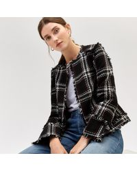 Warehouse - Ruby Check Jacket - Lyst