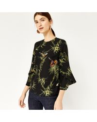 Warehouse - Embroidered Songbird Jumper - Lyst