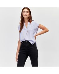 Warehouse - Pintuck Short Sleeve Blouse - Lyst