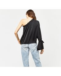 Warehouse - Long Sleeve One Shoulder Top - Lyst