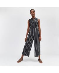 Warehouse - Stripe Cutabout Jumpsuit - Lyst