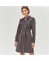Warehouse - Honey Stripe Mini Shirt Dress - Lyst