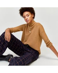 Warehouse - Ribbed Boxy Funnel Neck Jumper - Lyst