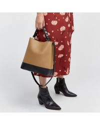 Warehouse - Popper Slouchy Bucket Bag - Lyst