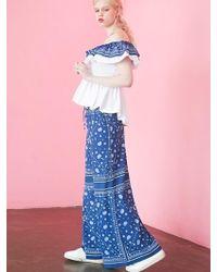 Fleamadonna - 17ss Bandana Printed Wide Trousers - Lyst