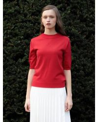 among - A Back Button Knit - Lyst