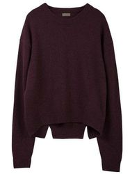 MADGOAT - Back Slit Cashmere Cropped Knit_burgundy - Lyst