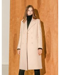 COLLABOTORY - B7cma3009m Pastel Colour Double Coat Light Pink - Lyst