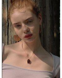 1064STUDIO - Burgundy Sqaure Necklace - Lyst