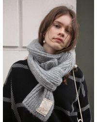 W Concept - Hard But Soft Muffler Gray - Lyst