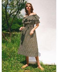 LETQSTUDIO - Off Shoulder Ruffle Dress - Lyst