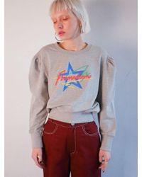 Fleamadonna - Shirring Sweat Shirt - Lyst