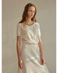 among - A Color Button Knit Top - Ivory - Lyst