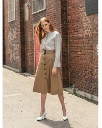 COLLABOTORY - B7cma7003m A Line Button Skirt - Lyst