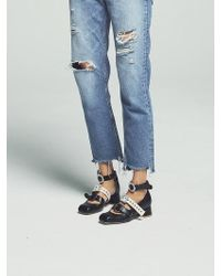 W Concept - Black Shelley Strap Shoes - Lyst