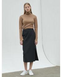 NILBY P - Suit Wrap Skirt Black - Lyst