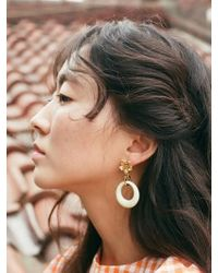 VON DITOLE - Ivory Hole Retro Flower Vintage Earring - Lyst