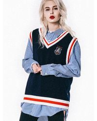 SHETHISCOMMA - [unisex] Etc Knitwear Vest - Lyst
