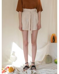 among - A Linen Banding Shorts - Lyst