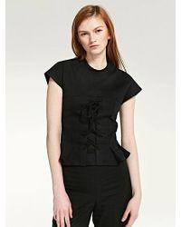 LIUNICK - Stiffener Corset T-shirt (black) - Lyst