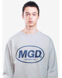 MAHAGRID - Melange Mgd Crew Neck Grey - Lyst