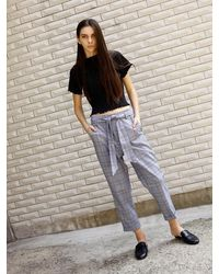 OUOR - Choice Check Pants - Lyst
