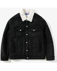 W Concept - Sherpa Trucker Jacket Black - Lyst