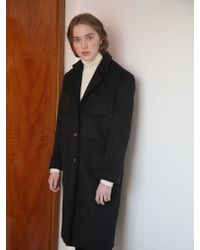 NUISSUE - Standard One Button Coat_black - Lyst
