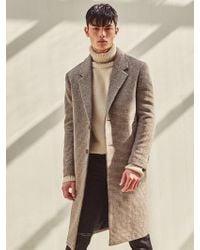 LIUNICK - Pied Check Wool Single Coat (beige) - Lyst