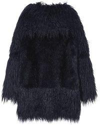 Jin Jin Island - Two Block Faux Fur Coat - Lyst