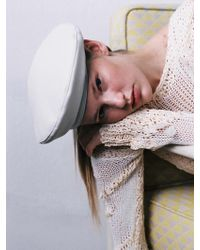 Awesome Needs - [unisex] Classic Beret_leather Cream - Lyst