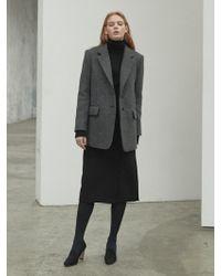 NILBY P - Winter Wrap Skirt Black - Lyst